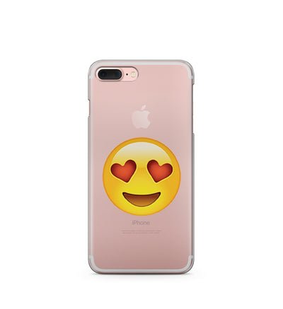 In Love Emoji - Clear TPU Case Cover - Milkyway Cases -  iPhone - Samsung - Clear Cut Silicone Phone Case Cover