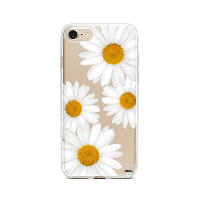 It's Daisies - Clear TPU Case Cover Milkyway iPhone Samsung Clear Cute Silicone 8 Plus 7 X Cover