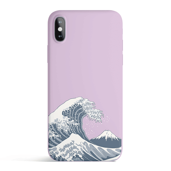 Japan Waves - Colored Candy Cases Matte TPU iPhone Cover
