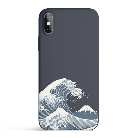 Japan Waves - Colored Candy Matte TPU iPhone Case Cover - Milkyway Cases -  iPhone - Samsung - Clear Cut Silicone Phone Case Cover