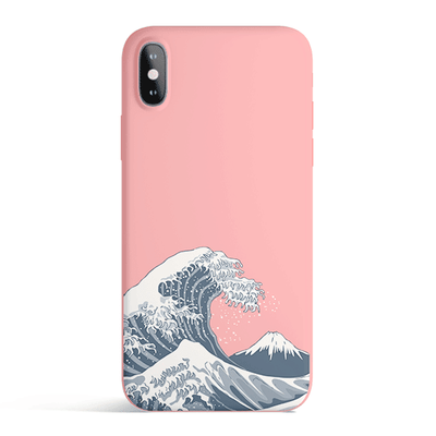 Japan Waves - Colored Candy Matte TPU iPhone Case Cover Milkyway iPhone Samsung Clear Cute Silicone 8 Plus 7 X Cover