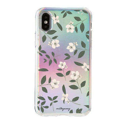 Holographic iPhone Case Cover - Jasmine Blossom
