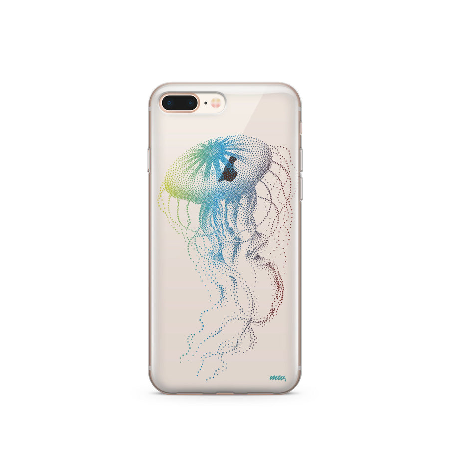 Jellyfish - Clear TPU Case Cover - Milkyway Cases -  iPhone - Samsung - Clear Cut Silicone Phone Case Cover