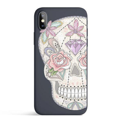 Jewel Skull - Colored Candy Cases Matte TPU iPhone Cover