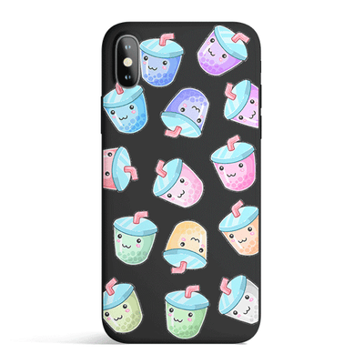 Kawaii Boba - Colored Candy Matte TPU iPhone Case Cover Milkyway iPhone Samsung Clear Cute Silicone 8 Plus 7 X Cover