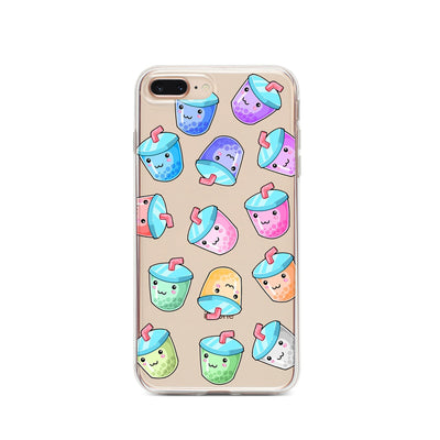 Kawaii Boba - Clear TPU Case Cover - Milkyway Cases -  iPhone - Samsung - Clear Cut Silicone Phone Case Cover