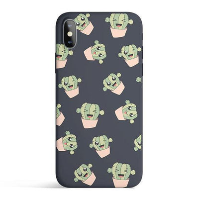 Kawaii Cactus - Colored Candy Cases Matte TPU iPhone Cover