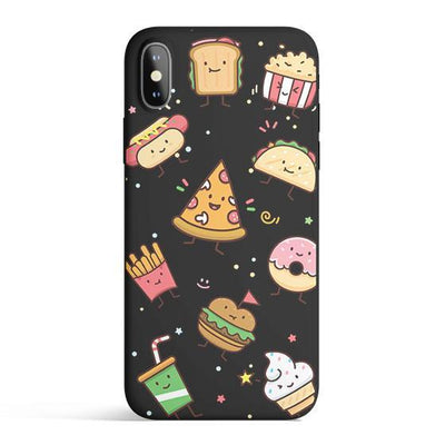Kawaii Junk Food Colored Candy Matte TPU Case - Clear Cut Silicone Phone Cover - Milkyway Cases