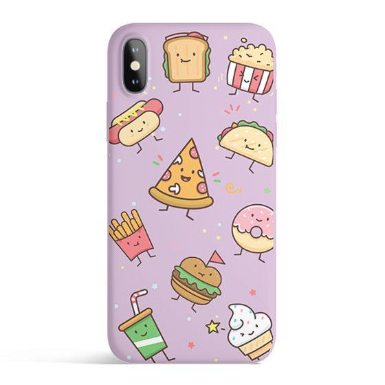 Kawaii Junk Food - Matte TPU - iPhone Case