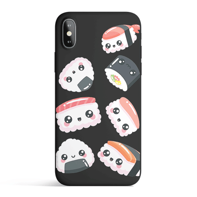 Kawaii Sushi - Colored Candy Matte TPU iPhone Case Cover Milkyway iPhone Samsung Clear Cute Silicone 8 Plus 7 X Cover