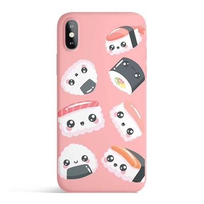 Kawaii Sushi - Colored Candy Matte TPU iPhone Case Cover - Milkyway Cases -  iPhone - Samsung - Clear Cut Silicone Phone Case Cover