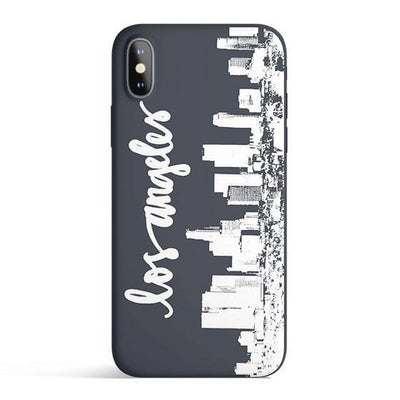LA Skyline - Colored Candy Cases Matte TPU iPhone Cover