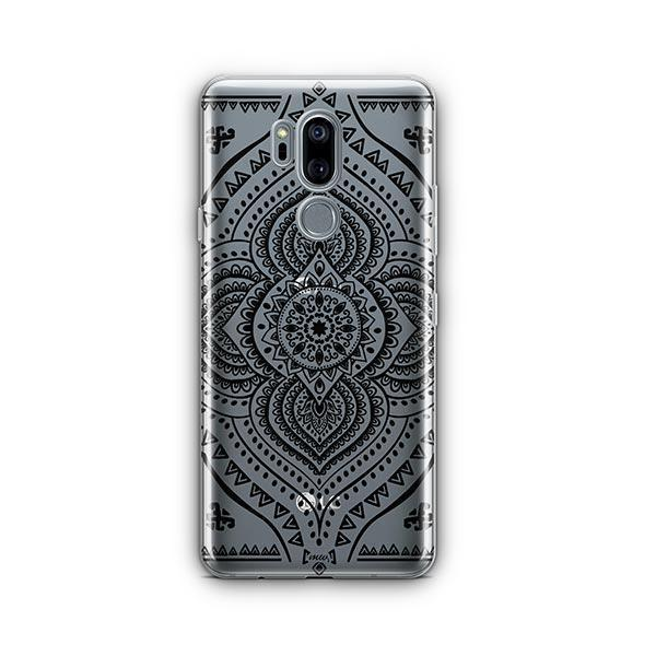 Black Opulent Mandala LG G7 Thinq Case Clear