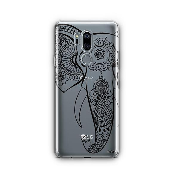 Black Tribal Elephant - LG G7 Thinq Case Clear