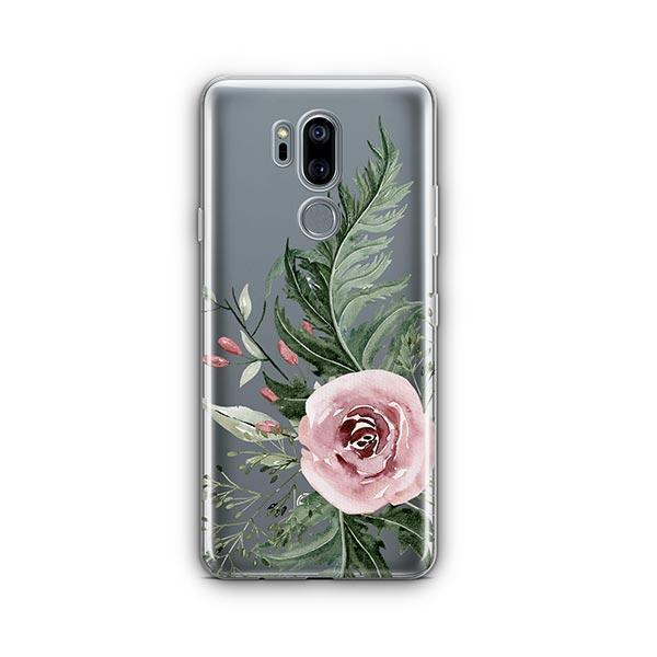 Dusty Pink Rose LG G7 Thinq Case Clear