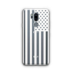 USA Flag LG G7 Thinq Case Clear