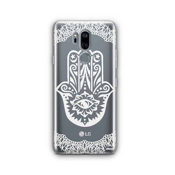 Henna Hamsa Hand of Fatima LG G7 Thinq Case Clear