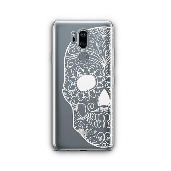 Henna Floral Skull LG G7 Thinq Case Clear