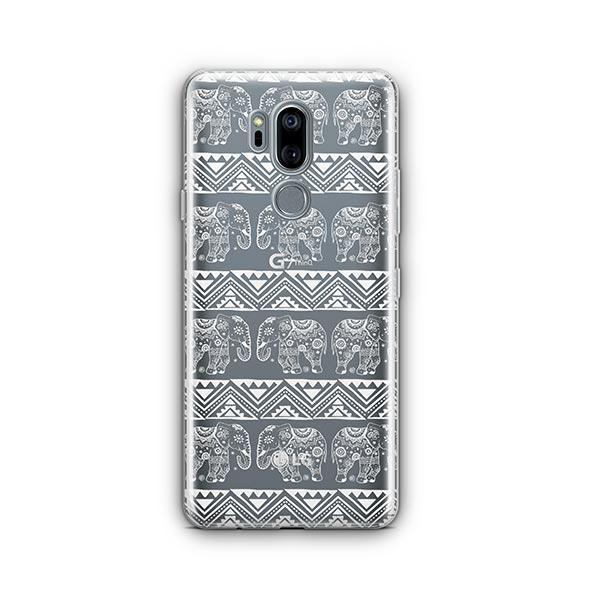 Henna Lotus Floral Elephant - LG G7 Thinq Case Clear