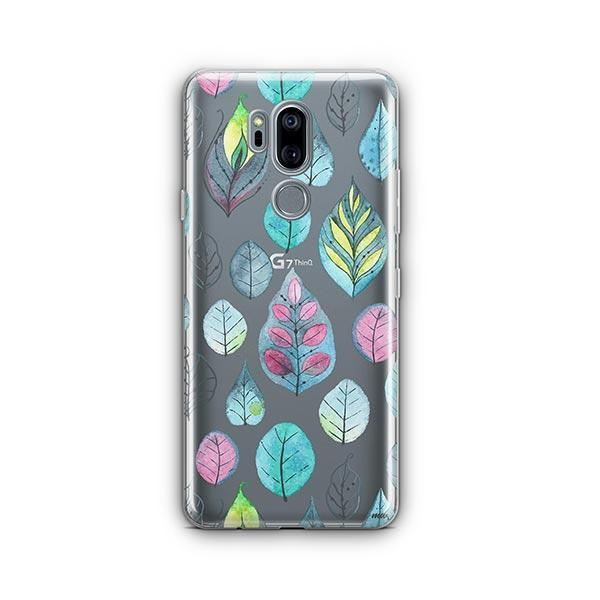 Leaves LG G7 Thinq Case Clear