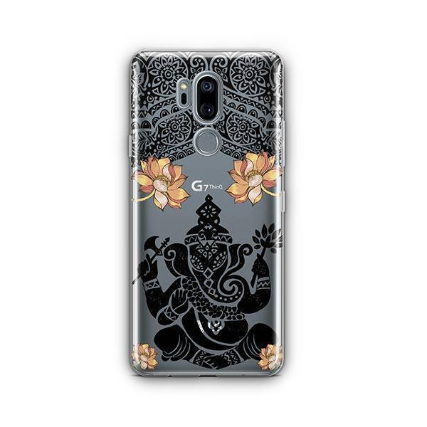 Lotus Ganapati Ganesh LG G7 Thinq Case Clear