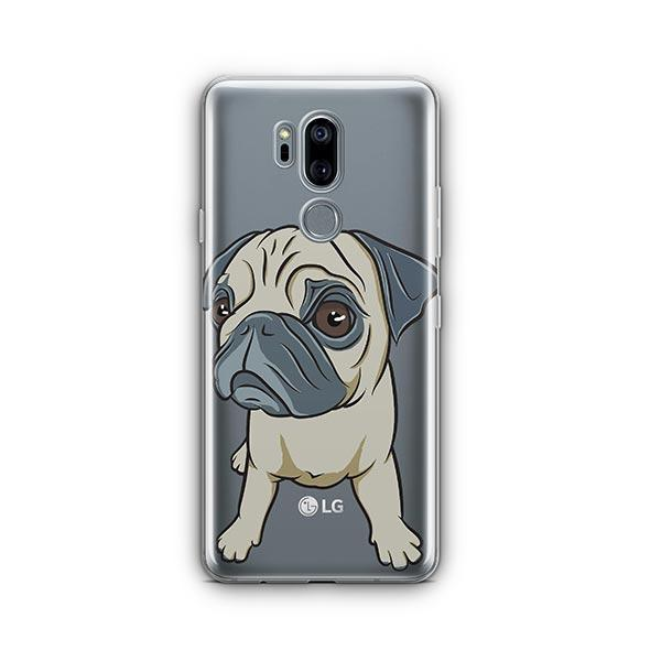 Full Pug - LG G7 Thinq Clear Case
