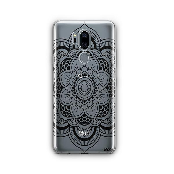 Black Henna Full Mandala LG G7 Thinq Case Clear