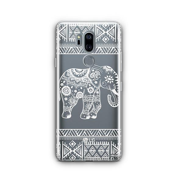 Henna Aztec Sundala Elephant LG G7 Thinq Case Clear