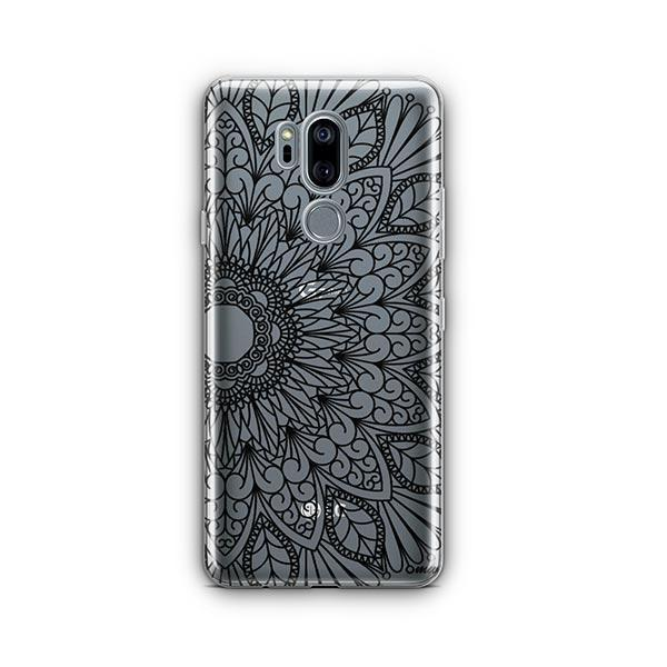 Black Mandala LG G7 Thinq Case Clear