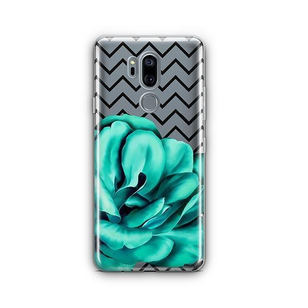 Blue Camelia LG G7 Thinq Case Clear