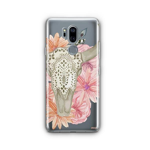 Boho Skull LG G7 Thinq Case Clear