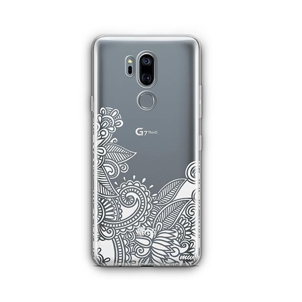 Hennan Bottom Floral Paisley LG G7 Thinq Case Clear