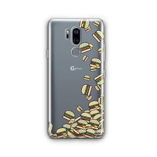 Burger Stuck LG G7 Thinq Case Clear