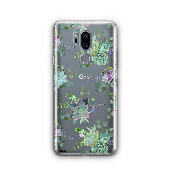 Echeveria LG G7 Thinq Case Clear