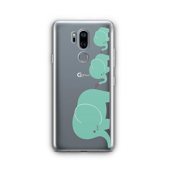 Elephant Family - LG G7 Thinq Case Clear