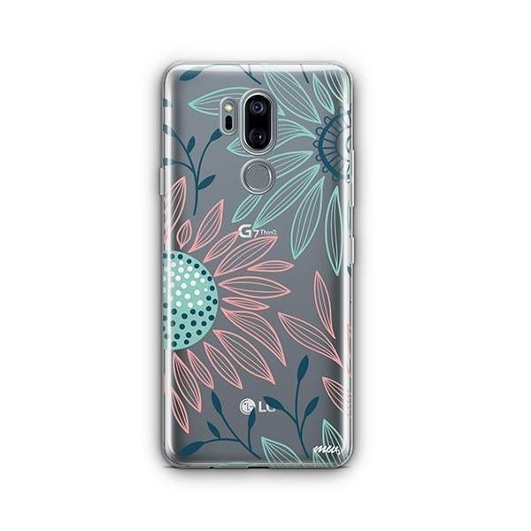 Floral Patch LG G7 Thinq Case Clear