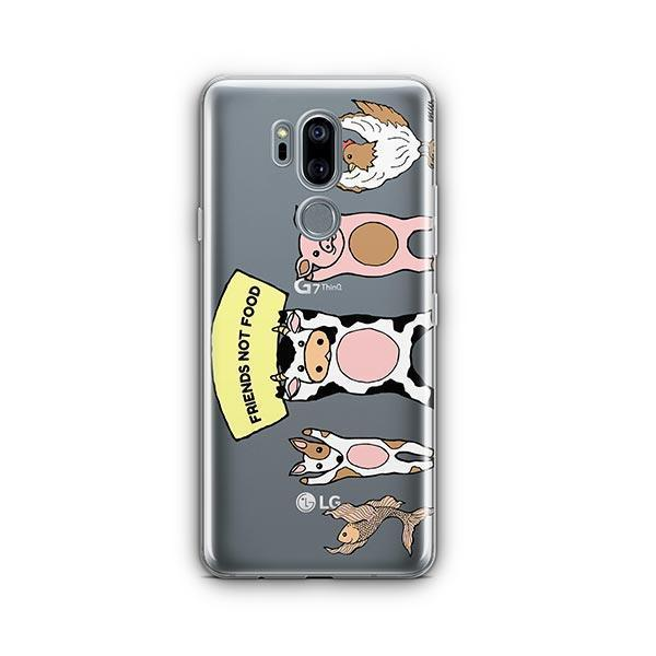Friends Not Food - LG G7 Thinq Case Clear