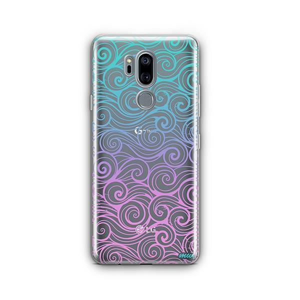 Gradient Wave LG G7 Thinq Case Clear