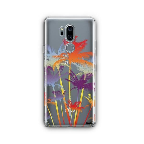 Hipster Palm Tree LG G7 Thinq Case Clear