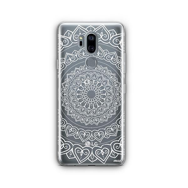 Mandala Hearts LG G7 Thinq Case Clear