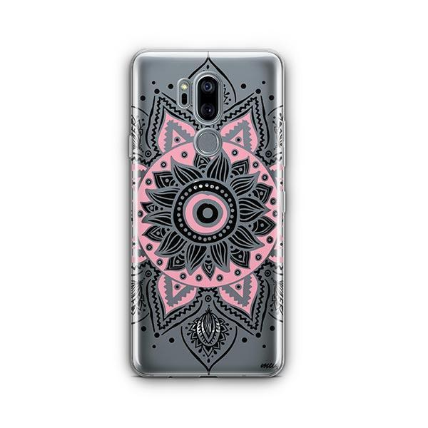 Pink Mandala LG G7 Thinq Case Clear