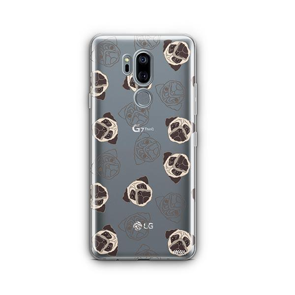 Pug Overload - LG G7 Thinq Clear Case