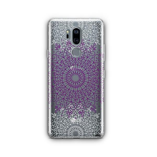 Purple Mandala LG G7 Thinq Case Clear