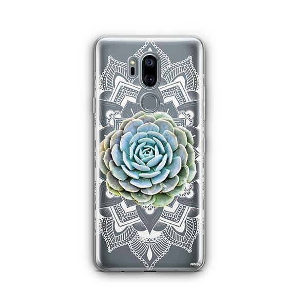 Succulent Mandala LG G7 Thinq Case Clear