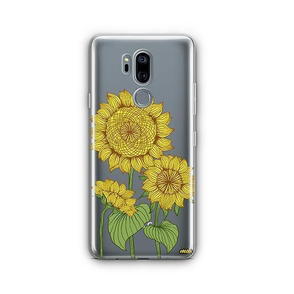 competitive price 0d8f5 0f0aa Sunny Sunflower LG G7 Thinq Case Clear