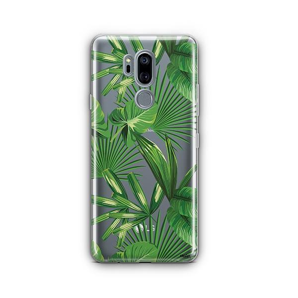 Tropical Palm Leaves LG G7 Thinq Case Clear