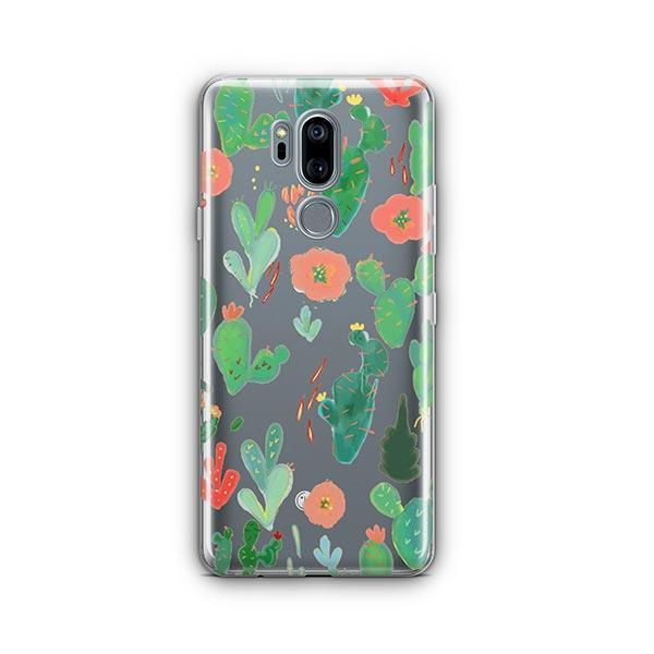 Watercolor Cactus LG G7 Thinq Case Clear