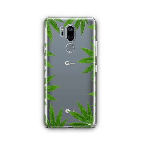 Weed Frame LG G7 Thinq Case Clear