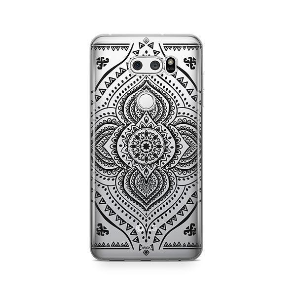 Black Opulent Mandala LG V30 Case Clear