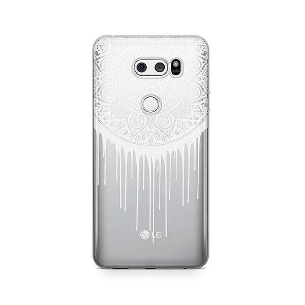 Henna Dripping Mandala Dreamcatcher LG V30 Case Clear